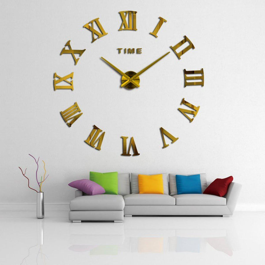 Wall Clock Sticker Clocks Wall Sticker wall-clock-sticker-5 Gold