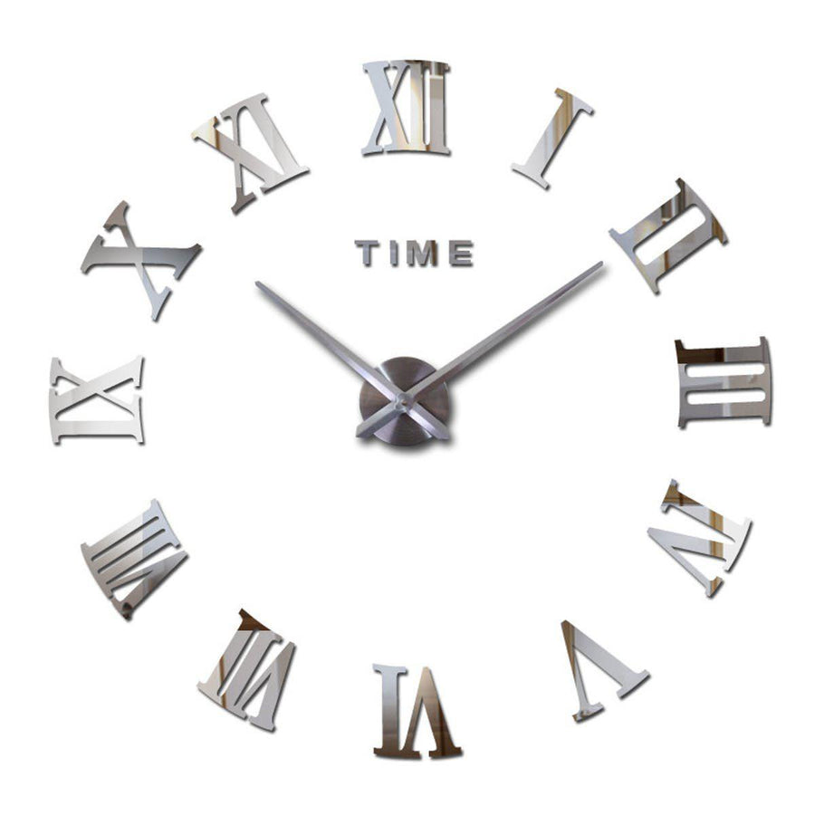 Wall Clock Sticker Clocks Wall Sticker wall-clock-sticker-5 Silver