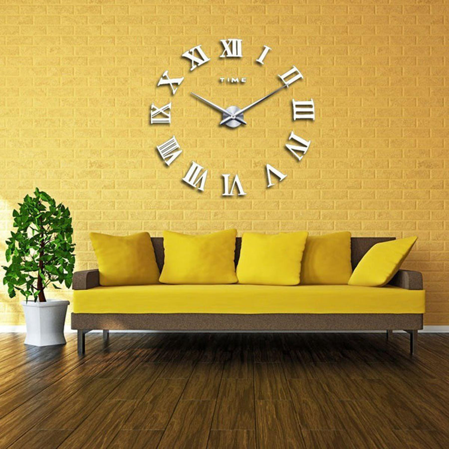 Wall Clock Sticker Clocks Wall Sticker wall-clock-sticker-5 White