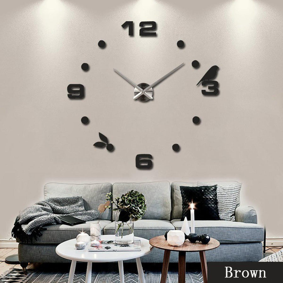 Wall Clock Sticker Clocks Wall Sticker wall-clock-sticker-7 Black