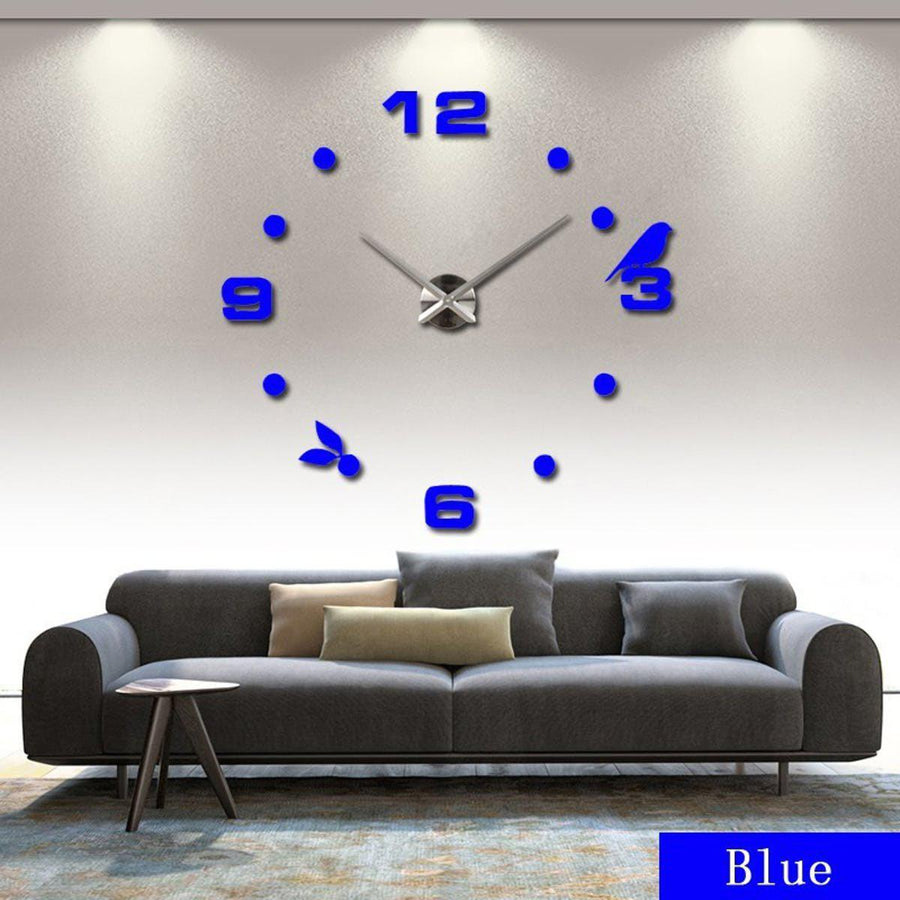 Wall Clock Sticker Clocks Wall Sticker wall-clock-sticker-7 Blue