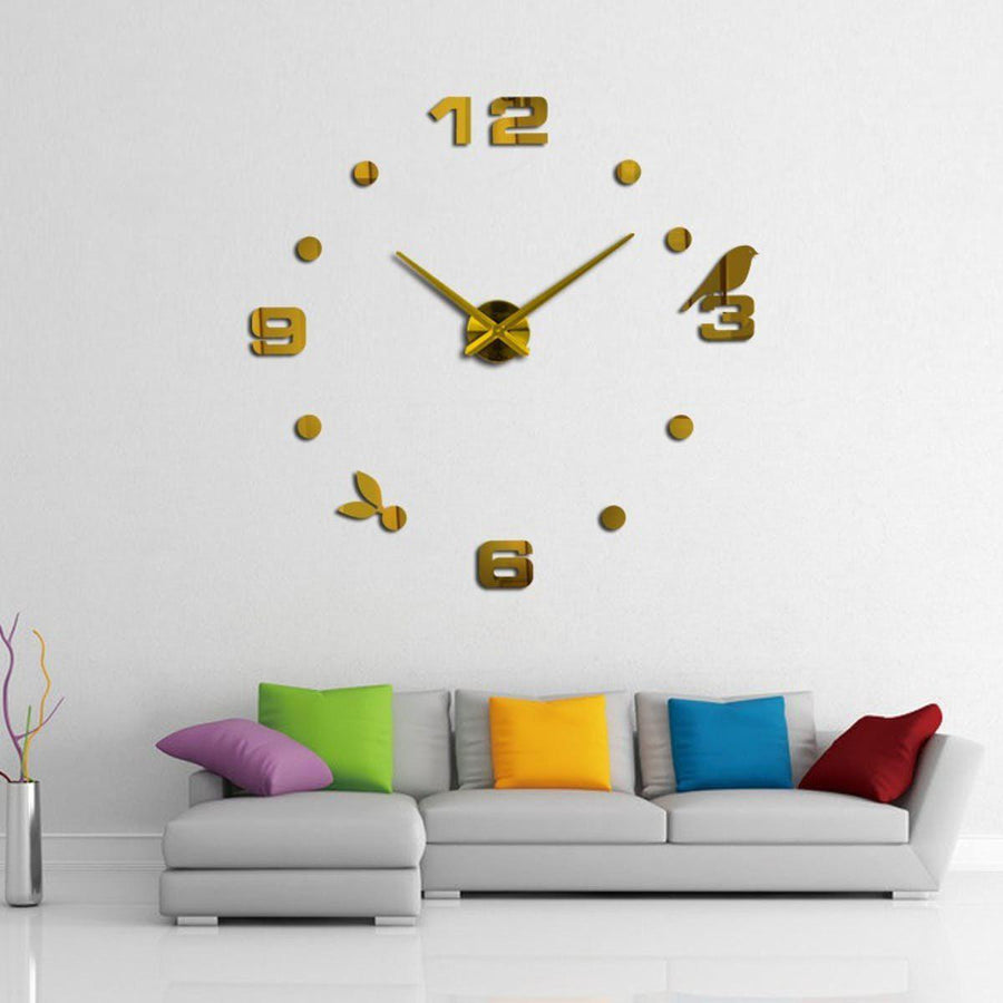 Wall Clock Sticker Clocks Wall Sticker wall-clock-sticker-7 Gold