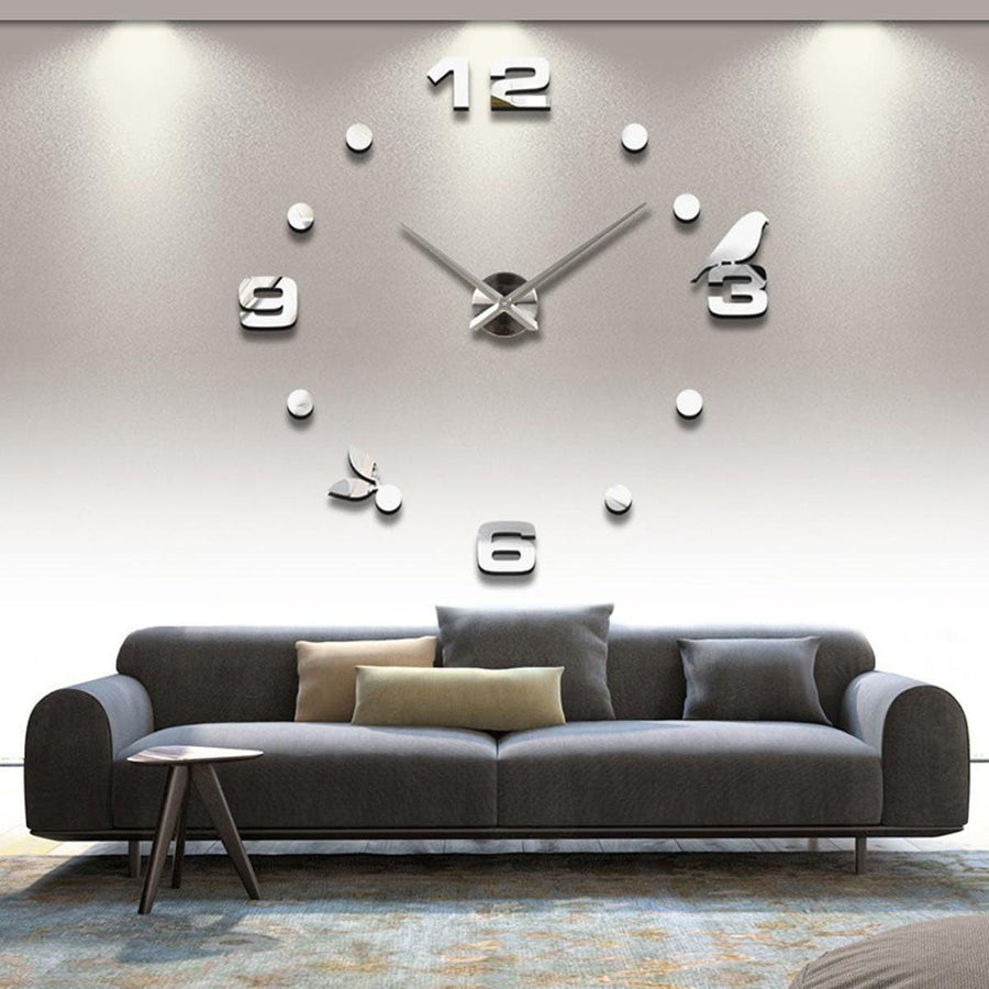 Wall Clock Sticker Clocks Wall Sticker wall-clock-sticker-7 Silver