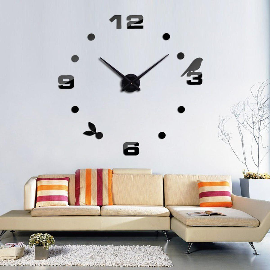 Wall Clock Sticker Clocks Wall Sticker wall-clock-sticker-7 White