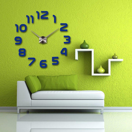Wall Clock Sticker Clocks Wall Sticker wall-clocks-sticker Blue