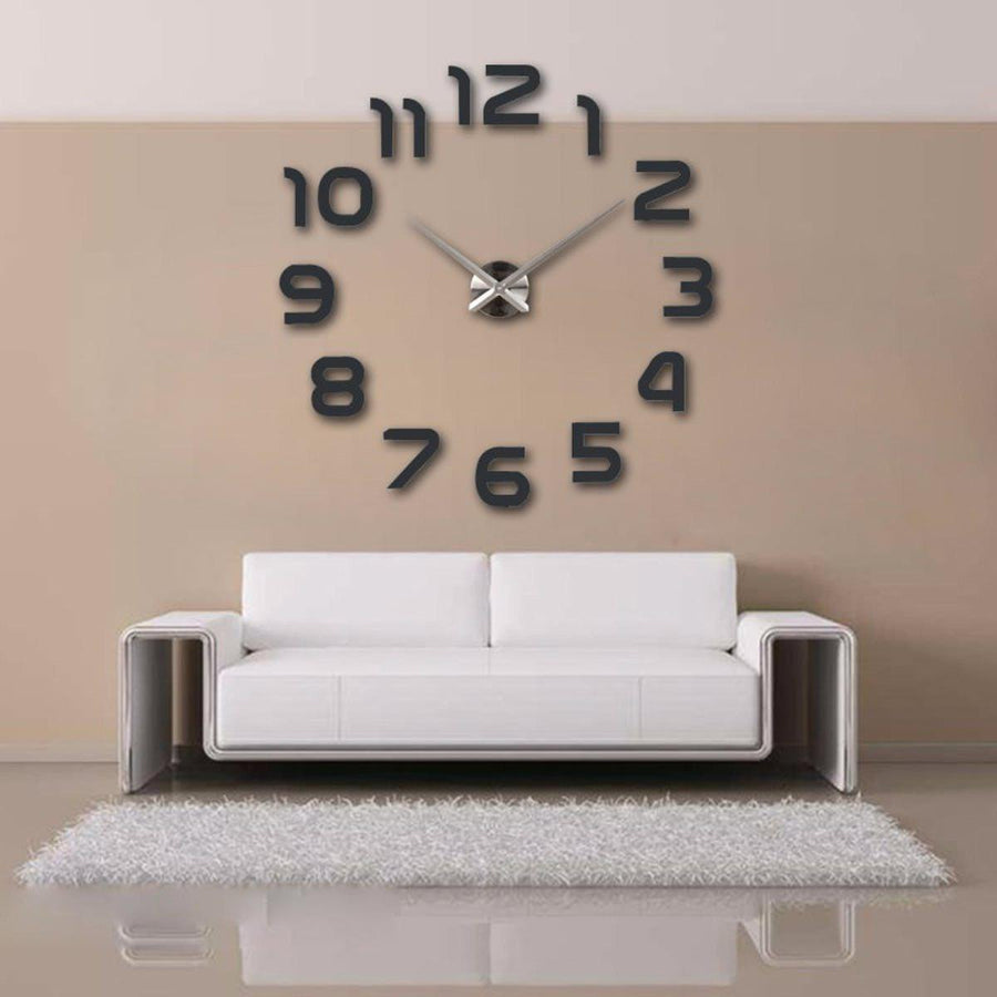 Wall Clock Sticker Clocks Wall Sticker wall-clocks-sticker Dark Gray