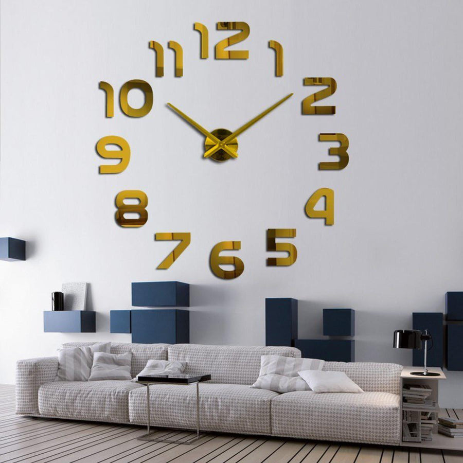 Wall Clock Sticker Clocks Wall Sticker wall-clocks-sticker Gold