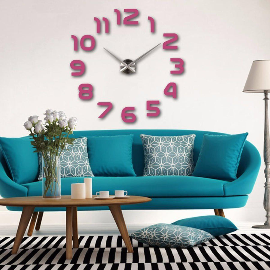 Wall Clock Sticker Clocks Wall Sticker wall-clocks-sticker Pink