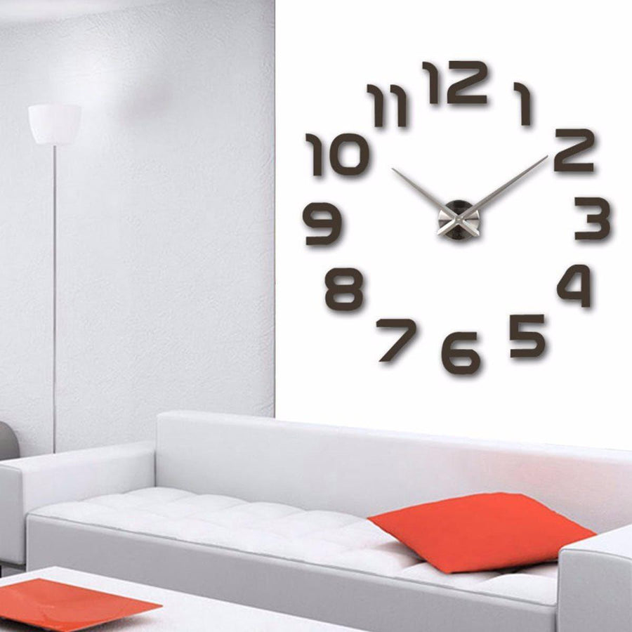 Wall Clock Sticker Clocks Wall Sticker wall-clocks-sticker saddlebrown