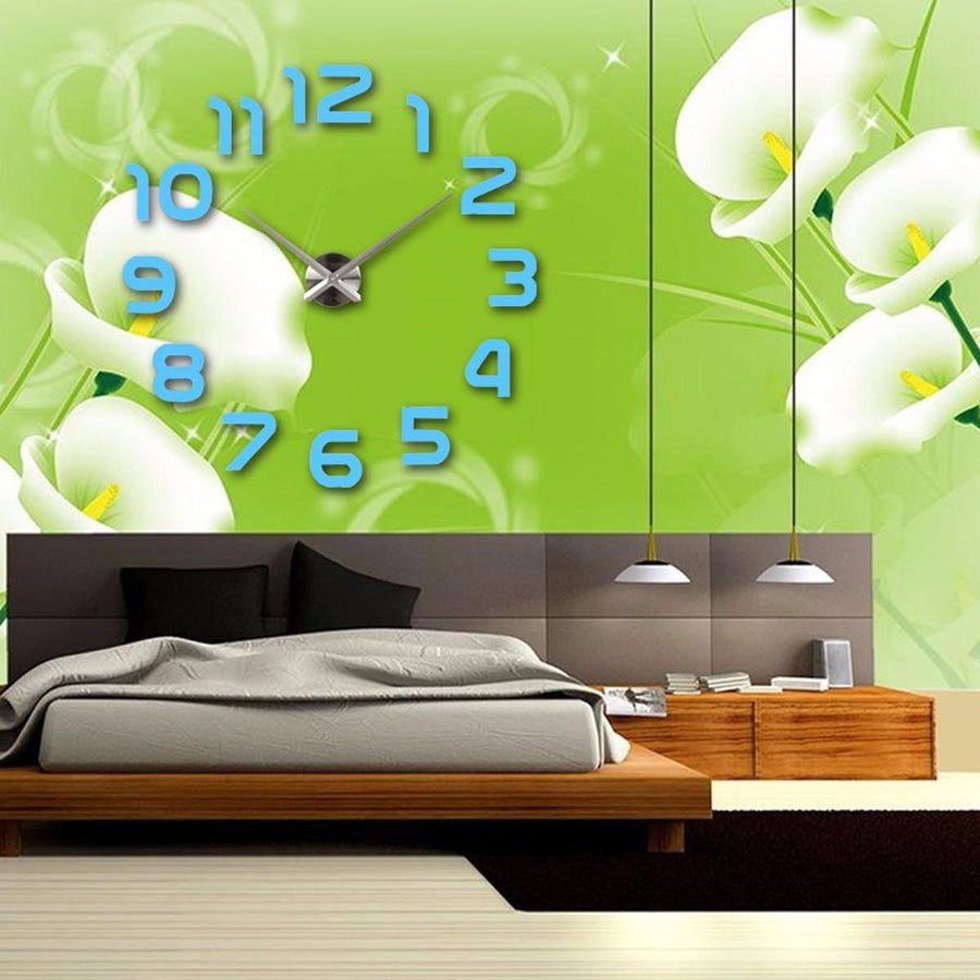 Wall Clock Sticker Clocks Wall Sticker wall-clocks-sticker Turquoise