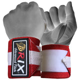 "Rix Weight Lifting Wrist Wraps Body Building Power Training Support Gym Straps 13"" (Red) - Combatek"