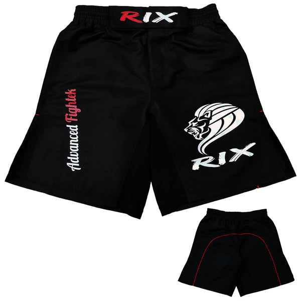 Rix MMA Shorts Kick Boxing BJJ Muay Thai Grappling UFC Cage Fight Mens Gym Wear - Combatek