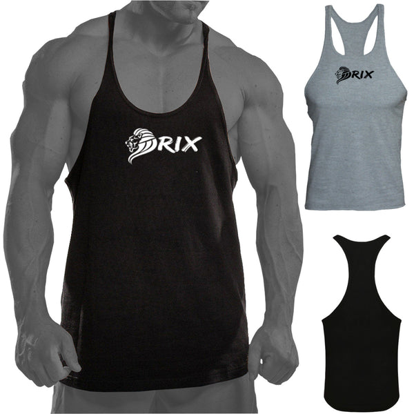 Rix Mens Gym Vest Bodybuilding Muscle Stringer Y Racer Back Sports Fitness Tank Top T Shirt - Combatek