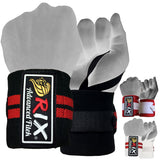 "Rix Weight Lifting Wrist Wraps Body Building Power Training Support Gym Straps 13"" - Combatek"