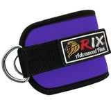 Rix Ankle D-Ring Strap Multi Gym Cable Attachment Leg Thigh Pulley Lifting (Purple) - Combatek