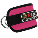 Rix Ankle D-Ring Strap Multi Gym Cable Attachment Leg Thigh Pulley Lifting (Pink) - Combatek