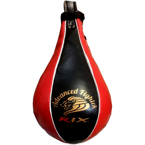 Rix Pro Leather Speedball Boxing MMA Punch Bag Small Size 2 Punching Speed Ball - Combatek