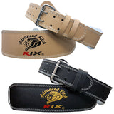 "Rix 4"" Weight Lifting Leather Belt Back Support Strap Gym Power Training Fitness - Combatek"