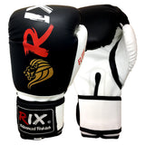 Rix Elite Leather Boxing Gloves Training MMA Muay Thai Kick Pad Punch Bag Mitts - Combatek