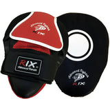 Rix Pro Focus Pads Hook & Jab Mitts Kick Boxing Muay Thai MMA Strike Punch Bag - Combatek