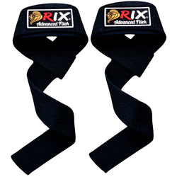 Rix Padded Weight Lifting Straps Hand Bar Wrist Support Gloves Gym Training Wraps - Combatek