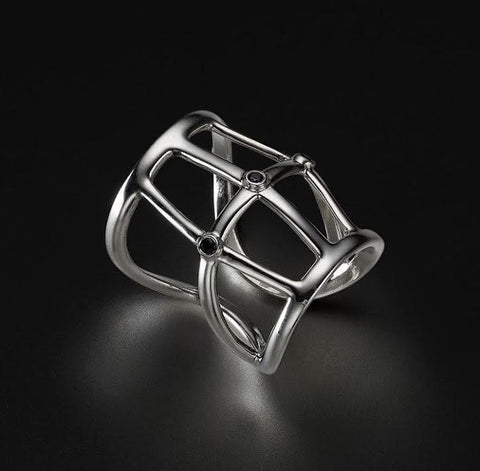 Onyx and sterling silver 925 - Ring