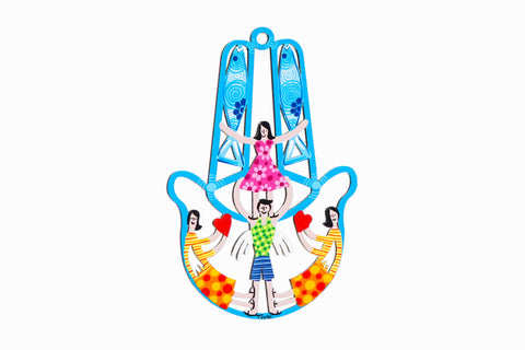 Hamsa Cyan With Family Members