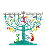 Hanukkah Family Tree Menorah - Multicolor - Tzuki Studio
