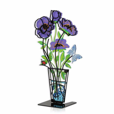 Flower Vase Purple 3D - Tzuki Studio