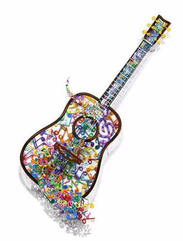 Guitar Wall Sculpture - Tzuki Studio