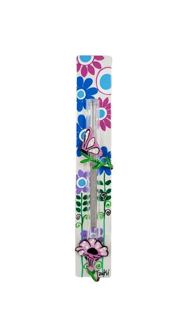Butterfly Mezuzah Colorfull Dots
