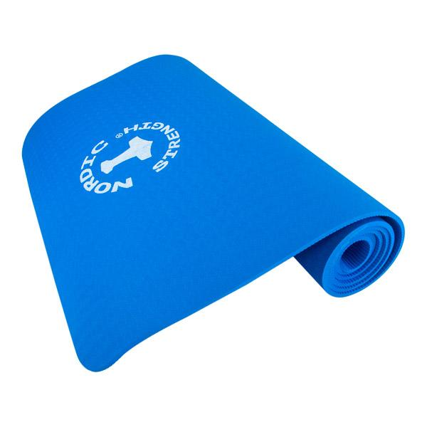TPE Yogamatte in blau - 6 mm