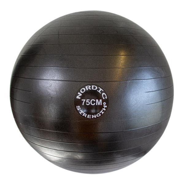 Gymnastikball 75 cm - Nordic Strength (Black Edition)