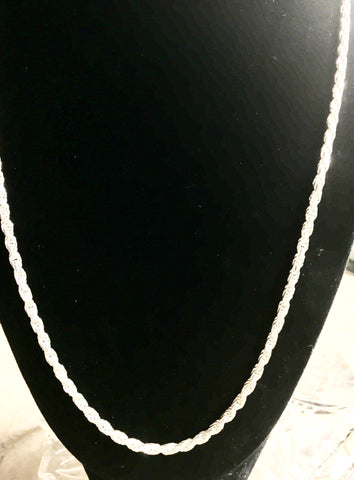 3mm Sterling Rope Chain. 22