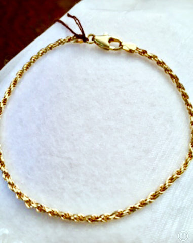14K Yellow Gold Rope Chain 8