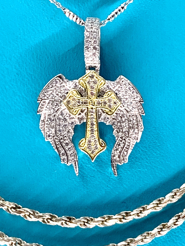 Angel Wing Cross Pendant