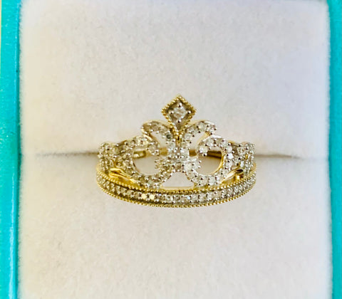 White Diamond Tiara Ring
