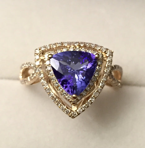 Tanzanite Diamond 14k Ring