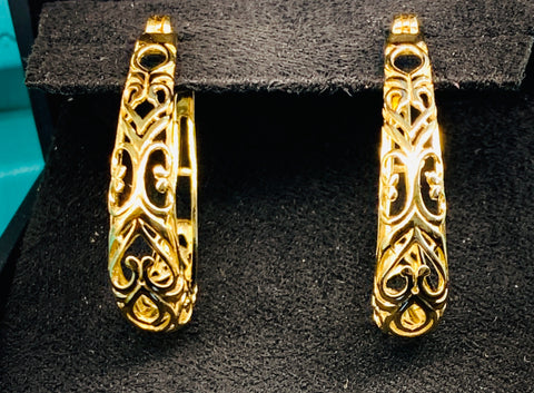 Filigree Hoop Earrings