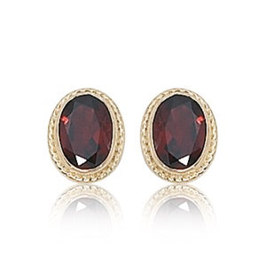 14k Garnet Earrings