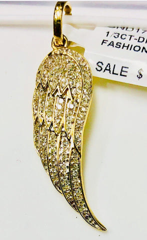 10ky gold Diamond Angel Wing