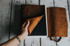 Large Personalized Leather Sketchbook