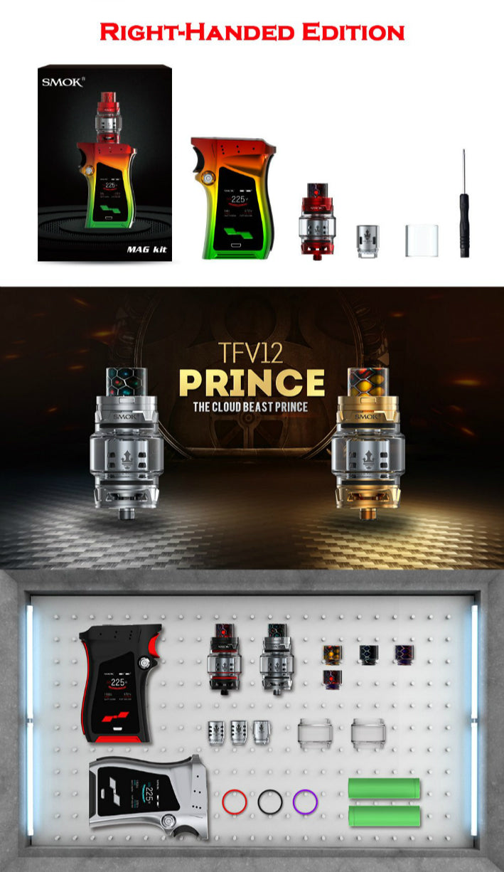 SMOK Mag 225W TC & TFV12 Prince Starter Kit (Right-Handed Edition)