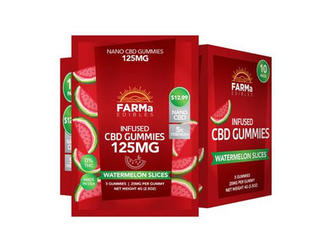 FARMa Edibles 125MG Infused CBD Gummies 5ct - Vaporider