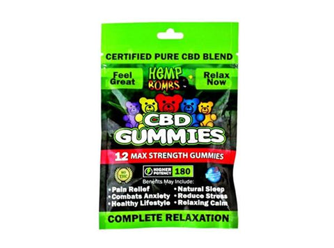 Hemp Bombs 12ct Max Strength CBD Gummies 180mg
