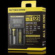NITECORE D2 LCD Display Screen 2-Slot Battery Charger