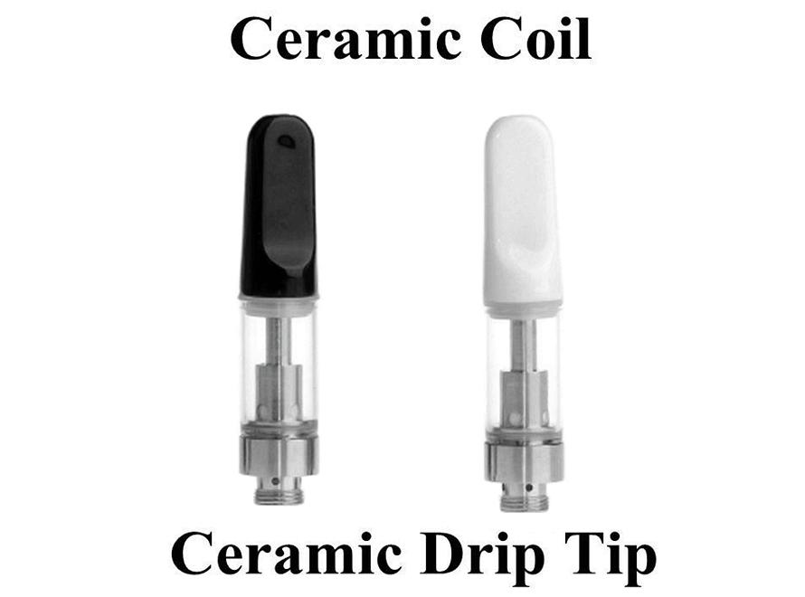 CE3 Bud Touch Ceramic Drip Tip Wickless Ceramic Coil 510 Thread Atomizer Tank - Vaporider