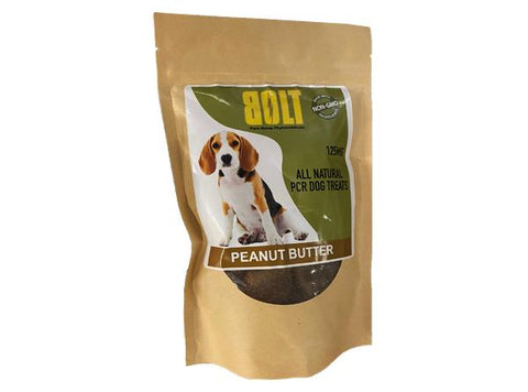 Bolt CBD Dog Treats Peanut Butter Biscuits 150MG 20ct Bag