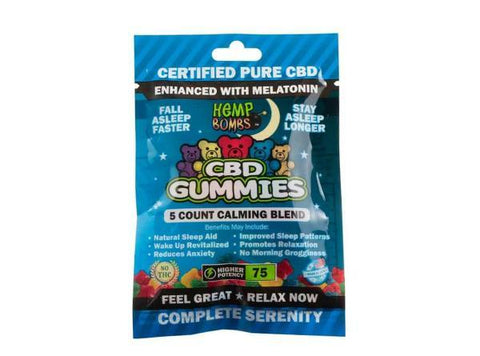Hemp Bombs CBD Gummies 5ct Bag - Vaporider