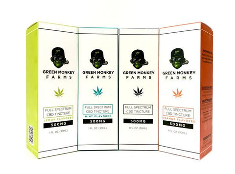 Green Monkey Farms Full Spectrum CBD Tincture - Vaporider
